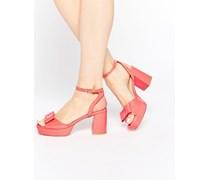 HAPPINESS Sandalen mit Absatz Rosa