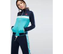 Trainingsjacke in Blockfarben Blau