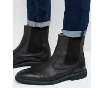 Dwight Chelsea-Stiefel aus Leder Schwarz