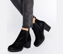 Chelsea-Stiefel mit Absatz Schwarz