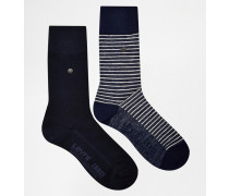 Levi's Gestreifte Socken im 2er-Set Blau