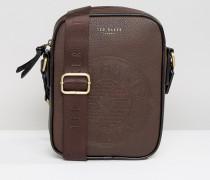 Flugtasche mit eingeprägtem Logo Braun