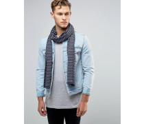 Jersey-Schal mit Streifen Grau
