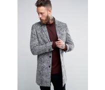 Mantel mit Leopardenprint Grau