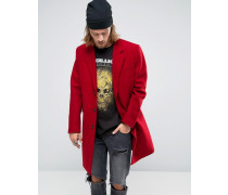 Roter Mantel aus Wollmischung Rot