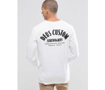 Langärmliges Shirt mit Surf-Print hinten Weiß