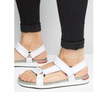 Adaulle Sandalen mit Klettverschluss Weiß