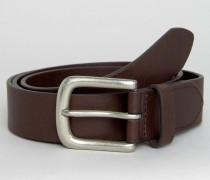 Klassischer Ledergürtel in Schokoladenbraun Braun