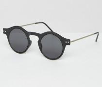 Runde Sonnenbrille Schwarz
