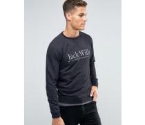 """Schwarzes Sweatshirt mit Raglanärmeln und Aufdruck """" Schwarz"""