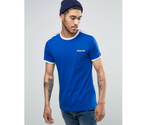 T-Shirt mit Ärmeldetail Blau