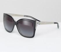 Übergroße Sonnenbrille Schwarz