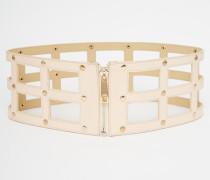 Gürtel mit Reißverschluss im Gitterdesign Rosa