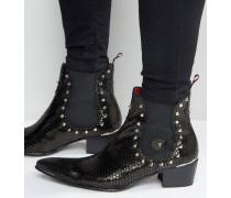 Sylvian Chelsea-Stiefel mit Nieten Schwarz