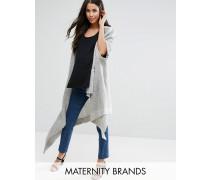 Mamalicious Maternity Drapierte Strickjacke Grau
