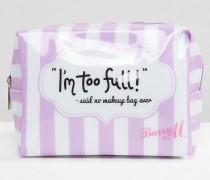 I'm Too Full Said No Make Up Bag Ever Make-up-Tasche Transparent