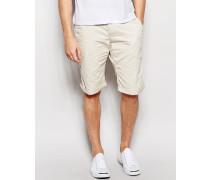 Chino-Shorts in gerader Passform Beige