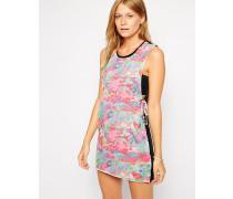 Static Bedrucktes Strandkleid mit Schnürung Rosa