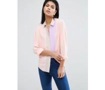 Bluse mit Farbblockdesign und Faltendetail Mehrfarbig