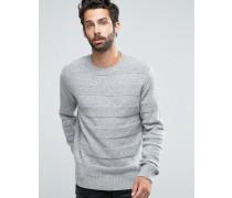 Pullover aus Schafswolle Grau