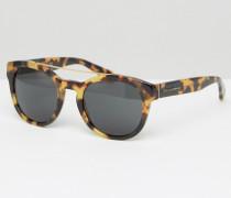Runde Sonnenbrille in Schildpattoptik Braun
