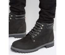 Stoke Stiefel aus Nubukleder mit warmem Futter Schwarz