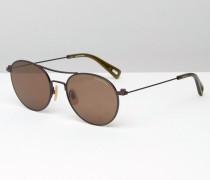 Defender Runde Sonnenbrille in Braun Braun