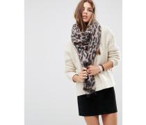 Langer gewebter Oversize-Schal mit rosa Leopardenmuster Rosa