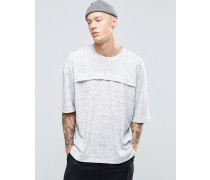 Sixth June T-Shirt mit Vordertasche Weiß