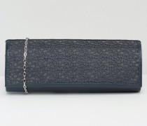 Clutch mit Netzdetails Marineblau