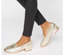 Truffle Weiche Slipper mit flachem Absatz Gold