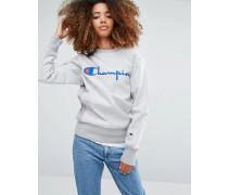 Oversized-Sweatshirt mit Logoschriftzug Grau
