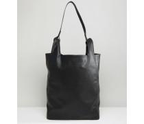 Tasche aus Kunstleder Schwarz