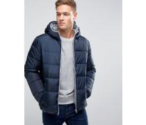 Wattierte Jacke mit Kapuze Marineblau