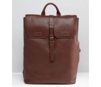 Rucksack aus genarbtem Leder Braun