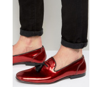 Loafer in Rot-Metallic Rot