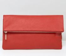 Clutch mit Umschlag Rot