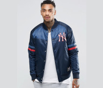 Yankees Satinjacke Marineblau