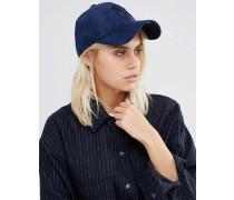 9 Forty Tintenblaue Kappe aus Wildlederimitat Blau