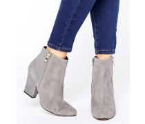 Orla Stiefel mit mittelhohem Absatz und seitlichem Reißverschluss Grau