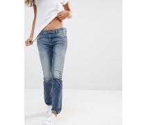 Belthy Boyfriend-Jeans mit mittelhohem Bund Blau