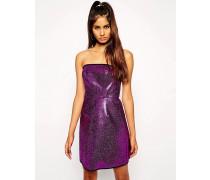 Bandeau-Kleid mit Schimmer Violett