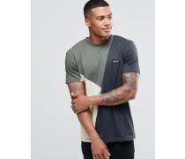 T-Shirt mit Einsätzen Grau