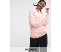 EXKLUSIV Oversized-Pullover aus Samt Beige