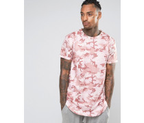 T-Shirt in Camouflage Rosa