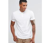 Polohemd aus weißem Jersey Weiß