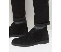Calabassas Chukka-Stiefel aus Wildleder Schwarz
