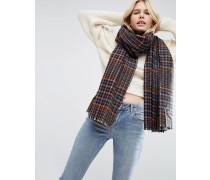 Langer Tweed-Schal mit Karomuster Mehrfarbig