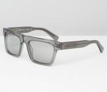 CK Platinum Sonnenbrille in Kristallrauch Transparent