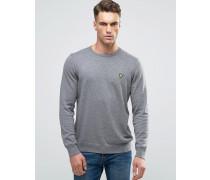 Grauer Pullover mit Rundhalsausschnitt aus Baumwolle/Merinowolle Grau